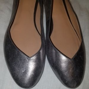 Ugg flats in silver size 9.5